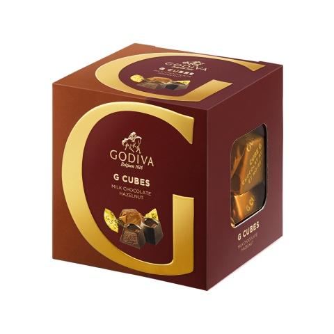 지 큐브 밀크 헤이즐넛 랩트 초콜릿 8개입