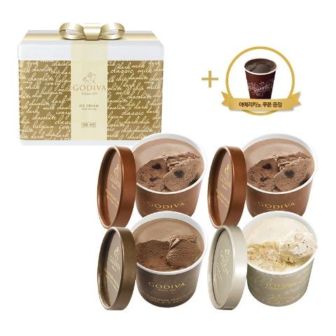프리미엄 컵 아이스크림 4개 세트 (+아메리카노 쿠폰)