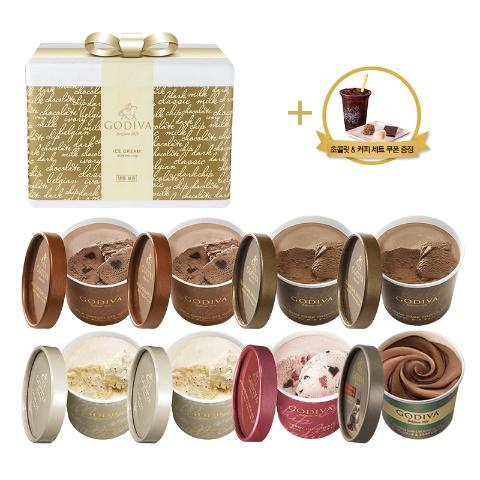 프리미엄 컵 아이스크림 8개 세트 (+커피&초콜릿 세트 쿠폰)