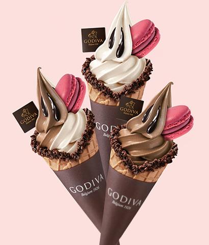 시즌한정 아이스크림<br>Soft Icecream & Macaron